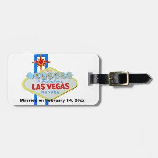 We Eloped to Las Vegas Wedding Memento Luggage Tag