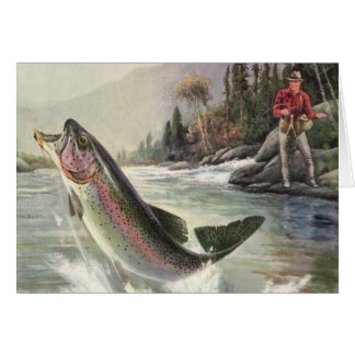 We Fish You A Merry Christmas Vintage Trout Fish Greeting Cards