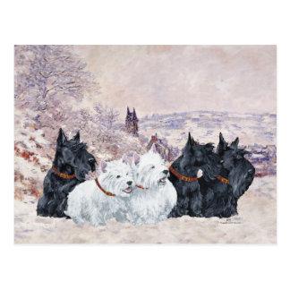 We Five Winter Postcard