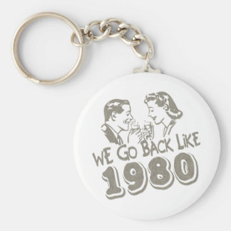 We Go Back Like 1980-Keychain Basic Round Button Key Ring