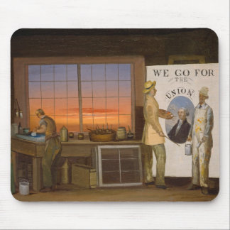 """""""We Go for the Union"""", c.1840-1850 (oil on canvas) Mouse Mat"""