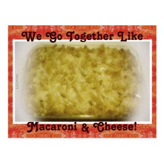 We Go Together Like Macaroni Cheese Postcards