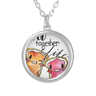 We Go Together like Peanut Butter and Jelly Round Pendant Necklace