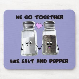 We go together like salt and pepper mouse mat