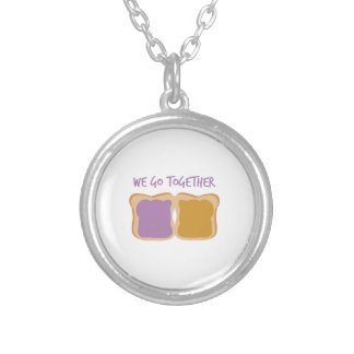 We Go Together Round Pendant Necklace