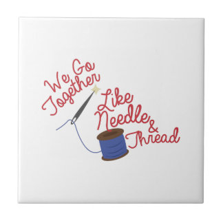 We go Together Small Square Tile