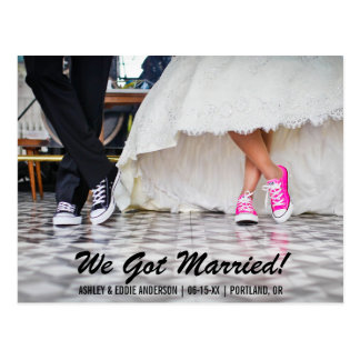 We Got Married Elopement Announcment Postcard S