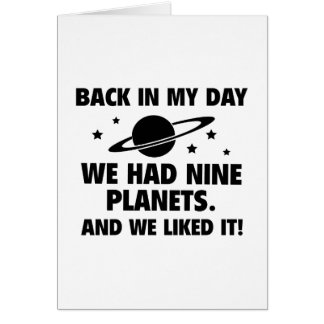 We Had Nine Planets Card