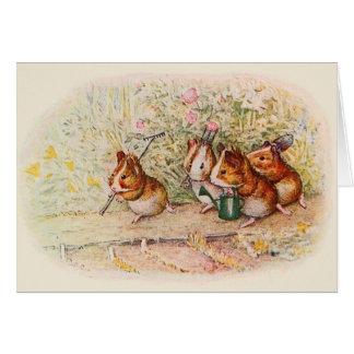 ❝We Have a Little Garden❞ Guinea Pigs Card