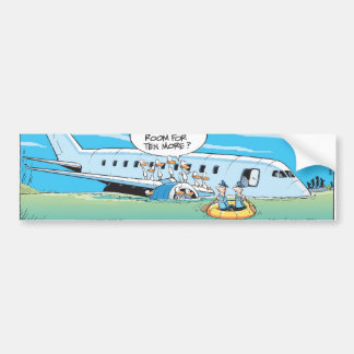We Have Landed Thankyou For Flying Bumper Sticker