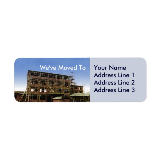We Have Moved Address Change Sheets of Avery Label