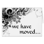 we have moved announcement note card