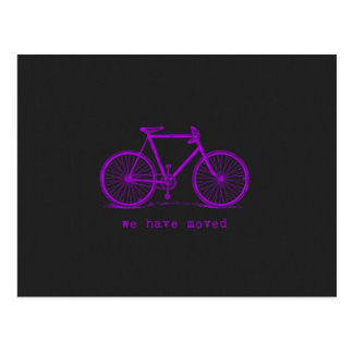 We Have Moved Chalkboard Colored Bike Post Cards