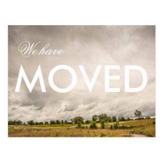 We have Moved Landscape Photograph Postcard