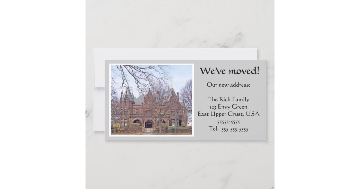 we have moved photocard template. Black Bedroom Furniture Sets. Home Design Ideas