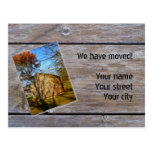 We have moved (Wooden Hut) Postcard