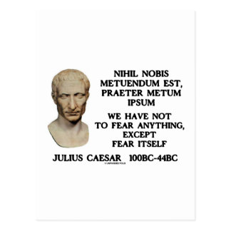 We Have Not To Fear Anything, Except Fear Itself Postcard