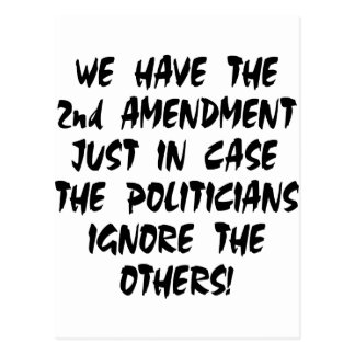 We Have The 2nd Amendment Just In Case Postcard
