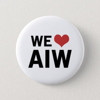 We Heart AIW 6 Cm Round Badge