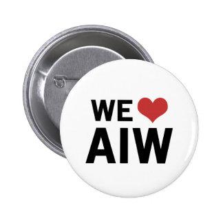 We Heart AIW 6 Cm Round Badge