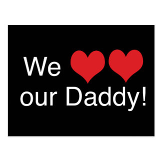 We Heart Daddy Postcards