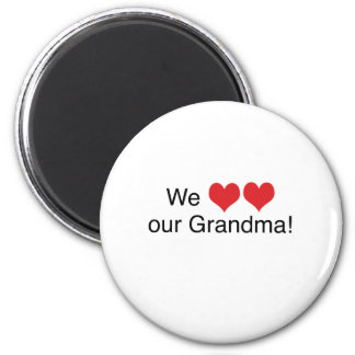 We Heart Grandma 6 Cm Round Magnet