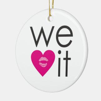 We Heart It Christmas Ornament
