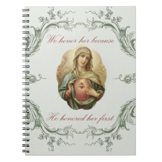 We honour her Immaculate Mary Notebook