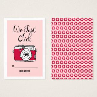 We Just Click Camera Classroom Valentine Card 100p