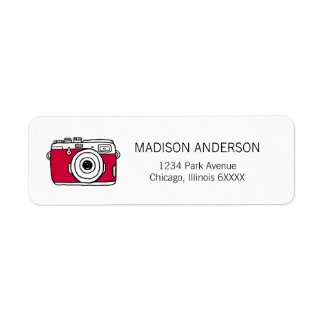 We Just Click Camera Valentine Address Labels