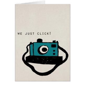 We just click card