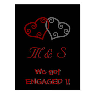 We just got ENGAGED! postcard