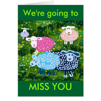 We ll miss you greeting card