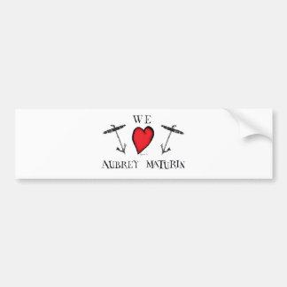 we love aubrey maturin, tony fernandes bumper sticker