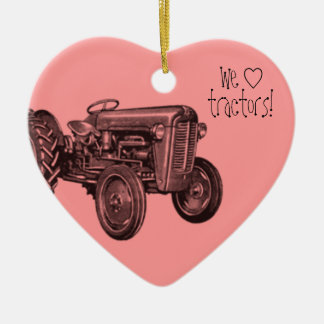 We Love Cool Tractors Ornament
