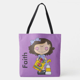 We Love Crayons Personalized Tote