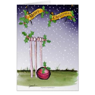 we love cricket xmas card