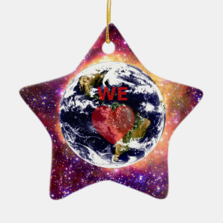 WE LOVE EARTH. CHRISTMAS ORNAMENT