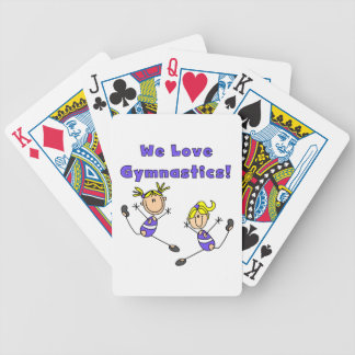 We Love Gymnastics Bicycle Playing Cards