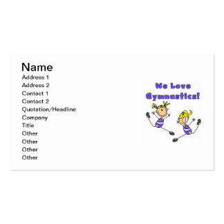 We Love Gymnastics Double-Sided Standard Business Cards (Pack Of 100)