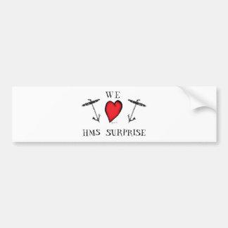 we love hms surprise, tony fernandes bumper sticker