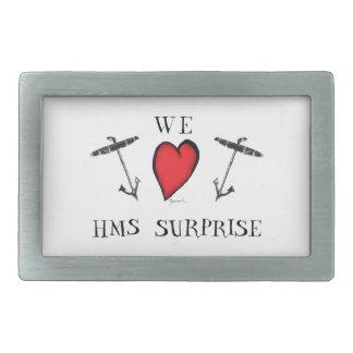we love hms surprise, tony fernandes rectangular belt buckle