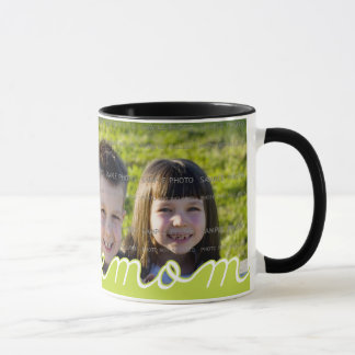 We Love Mom Mother's Day Mugs with Photo | Green