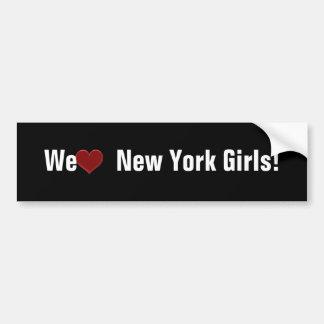 WE LOVE NEW YORK GIRLS! -Bumper Sticker Cool! Bumper Sticker