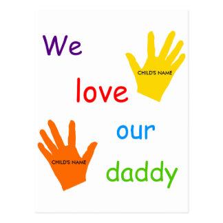 We Love Our Daddy (2 Children) Postcard