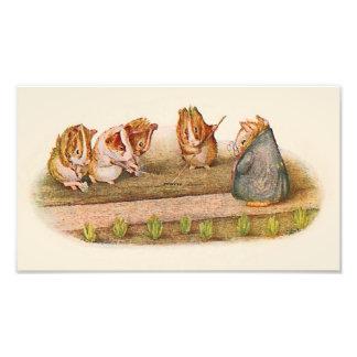 We Love Our Little Garden Guinea Pigs Photo Print