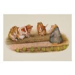 """We Love Our Little Garden"" Guinea Pigs Poster"