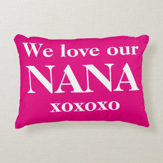 """We love our NANA xoxoxo"" Lumbar Throw Pillows. Decorative Cushion"