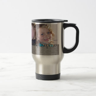 We Love Our Pawpaw  Add Your Photo Stainless Steel Travel Mug