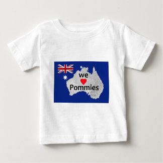 We Love Pommies Australian Flag Infant's T-Shirt